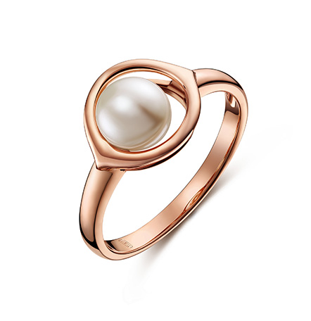 智慧之眼新版万博客户端下载红18k金珍珠戒指