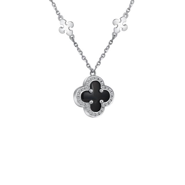 情迷威尼斯新版万博客户端下载 祈迹 18K金黑玛瑙钻石坠链