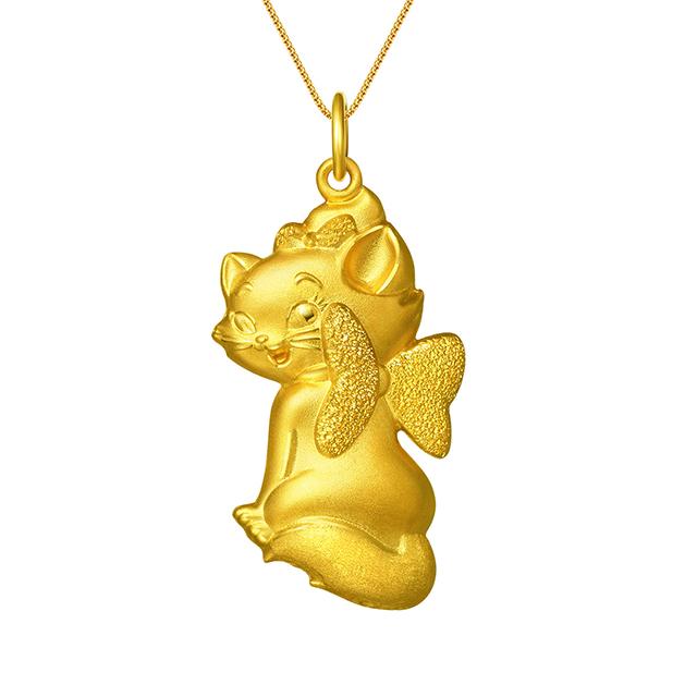 迪士尼玛丽猫新版万博客户端下载3D黄金吊坠回眸款