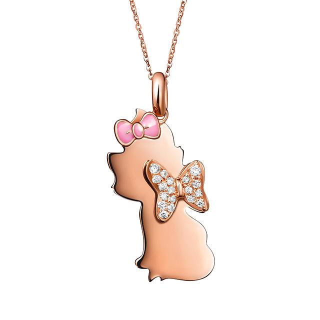 迪士尼玛丽猫新版万博客户端下载18K金钻石坠链花朵款