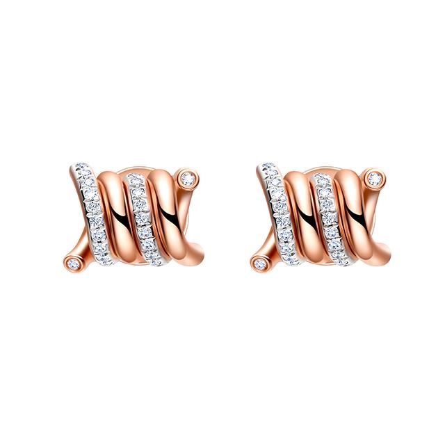 Unchain新版万博客户端下载_新万博app_万博app最新版新版万博客户端下载18K金钻石耳钉