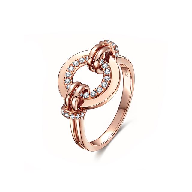 Circle·新版万博客户端下载_新万博app_万博app最新版新版万博客户端下载18K金钻石戒指