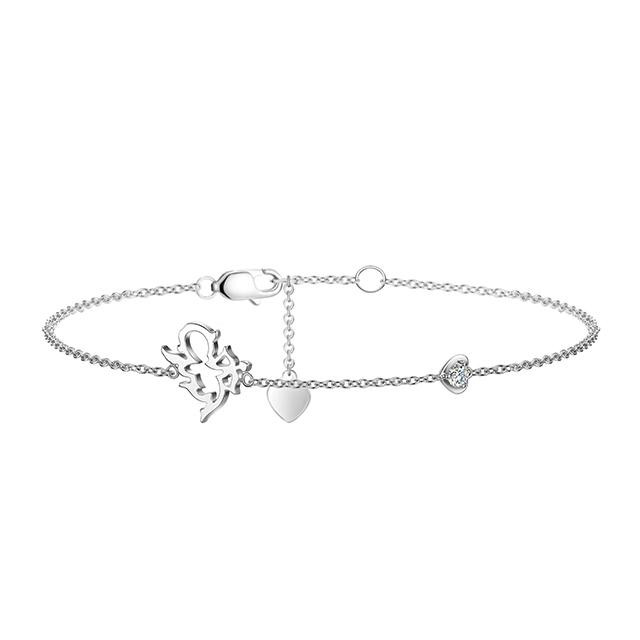 丘比特新版万博客户端下载白18K金钻石手链