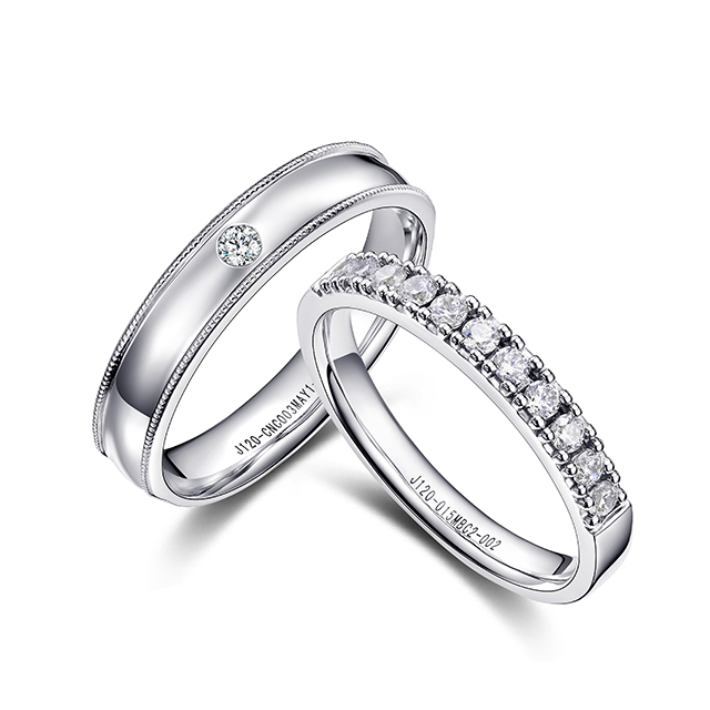 比特新版万博客户端下载白18K金钻石对戒