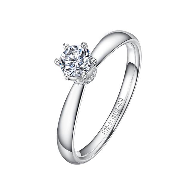 CHJ丘比特新版万博客户端下载白18K金钻石女戒
